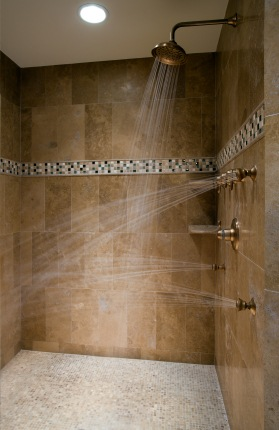 Shower Plumbing in Ridley Park PA by S&R Plumbing.